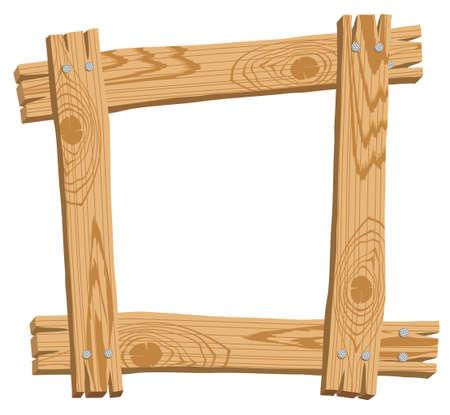 Ilustración con el marco de madera Foto de archivo - 69437795