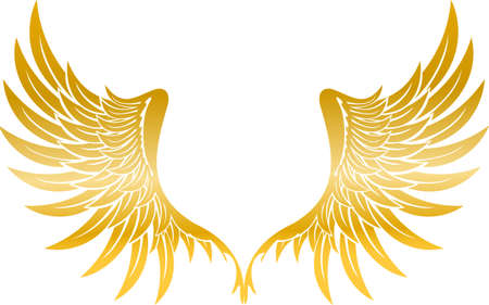 Illustration with wings gold Ilustrace