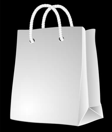 Illustration with  bag cardboard