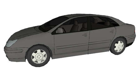Illustration with car