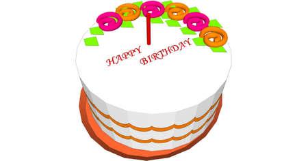Illustration with cake Stock Photo