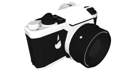 Illustration with body camera Stock Photo