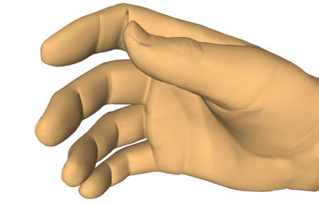 Illustration with a hand