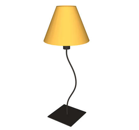 Illustration with lamp