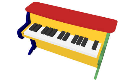 Illustration with piano Stock Photo