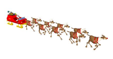 Illustration with santa claus