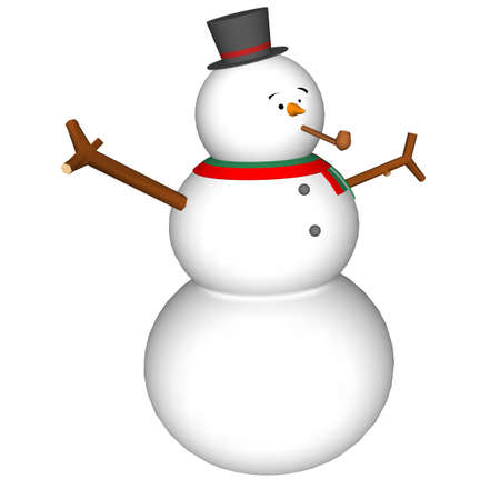 Illustration with snow man Stock Photo