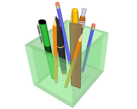 Illustration with tools for write