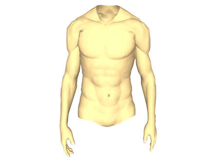 Illustration with a body man