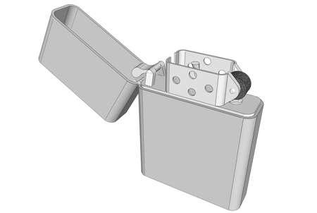 Illustration with  cigarette lighter Stock Photo