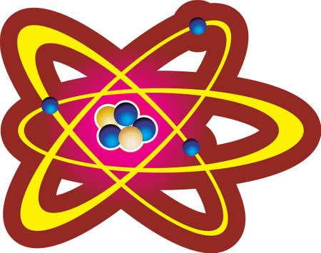 Illustration with atom
