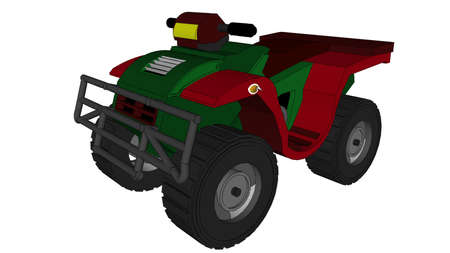Illustration with atv