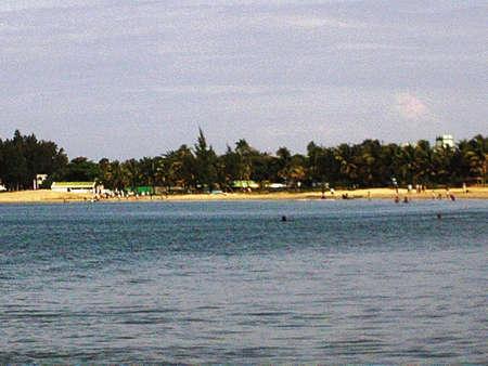 vue: La plage de Tamatave,vue sur mer
