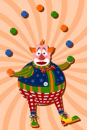 juggling: Payaso malabares con pelotas