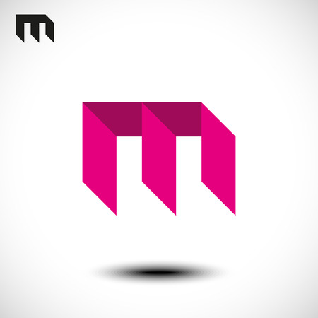 m: Vector illustration of abstract icons based on the letter M