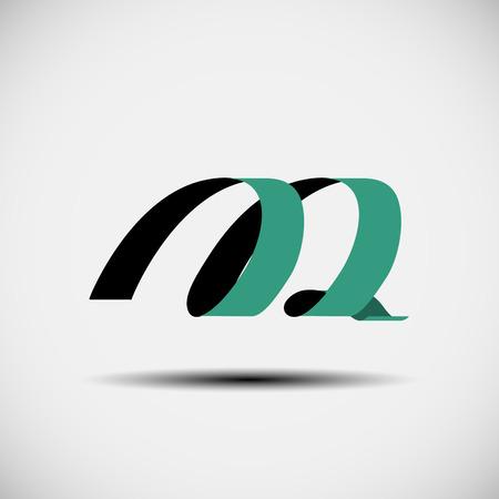 papier lettre: Illustration vectorielle des ic�nes abstraites fond�e sur la lettre m