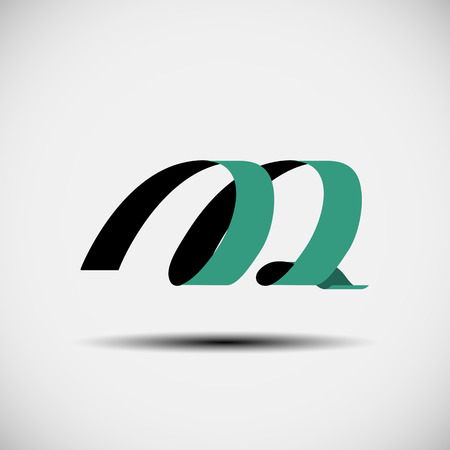 alphabet letter: Vector illustration of abstract icons based on the letter M
