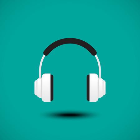 earphone: Earphone signvector Illustration