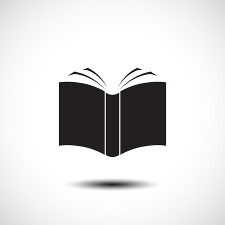 Open boek icoon. vector illustratie Stock Illustratie
