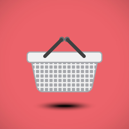 Shopping basket icon. Vector illustration Vector