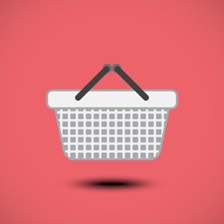 Shopping basket icon. Vector illustration Vector