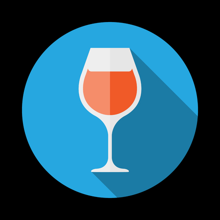 goblet: The wineglass icon. Goblet symbol. Vector illustration