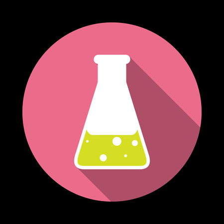 seething: Chemical Icon. Vector illustration flat design with long shadow Illustration