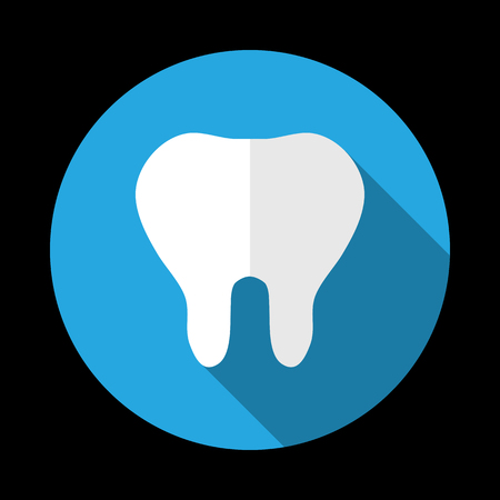 mouth pain: Abstract tooth icon