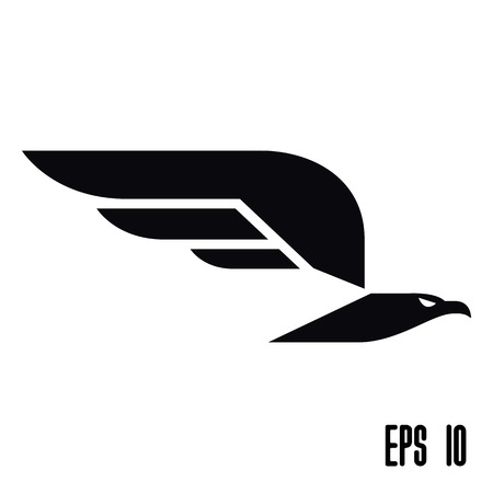 hawks: Flying eagle icon. Vector illustration Illustration