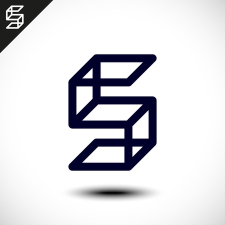 s curve: Abstract Letter S Icon. Vector illustration