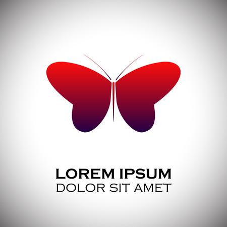 Butterfly icoon. vector illustratie