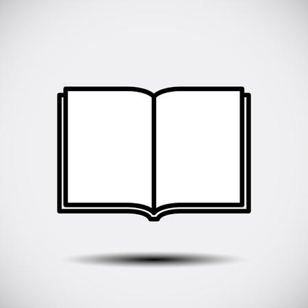 Open book icon. Vector illustration