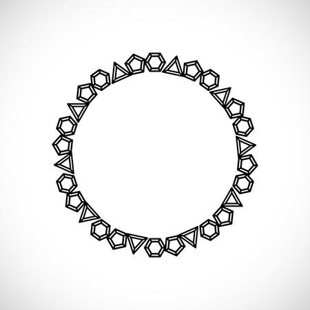 exuberance: Frame made of diamonds. Vector illustration