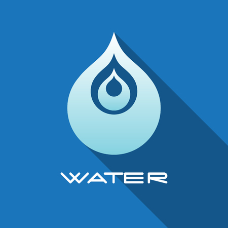 Abstract blue water drop. Vector creative concept.
