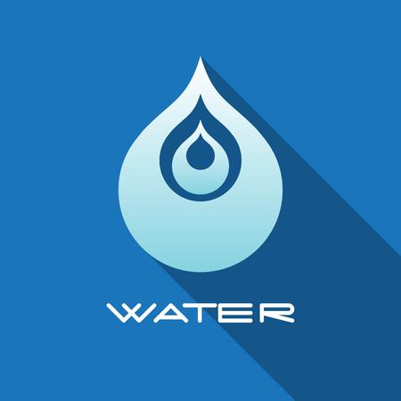 Abstracte blauwe water druppel. Vector creatief concept.