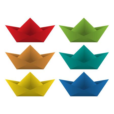 Origami boat. Vector illustration Vector