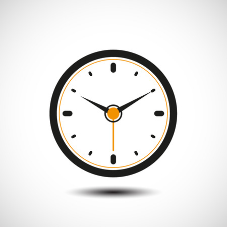dial plate: Vector clock illustration