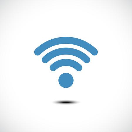 Pictogram voor draadloze communicatie. Vector Illustratie