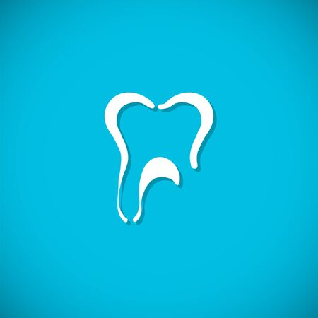 oral health: Tooth icon. Vector Illustration