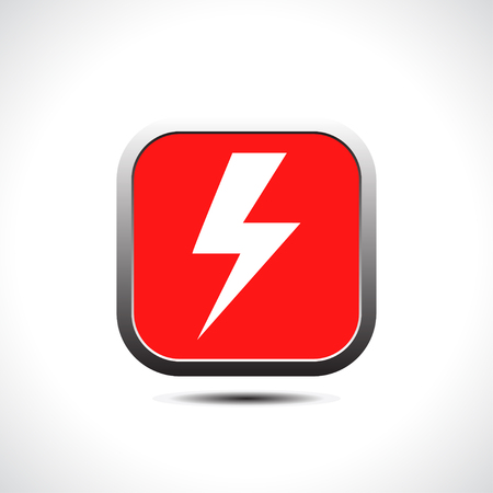 Lightning icon. Vector Illustration Vector