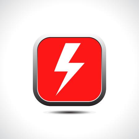 electrocute: Lightning icon. Vector Illustration
