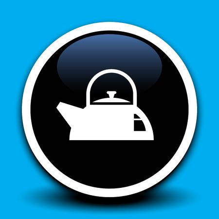 kettles: Hervidores icono o teteras icono. Ilustraci�n vectorial