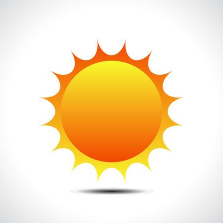Zon icoon. Vector illustratie