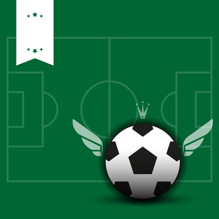 Soccer Background with Ball. Vector illustration Vector