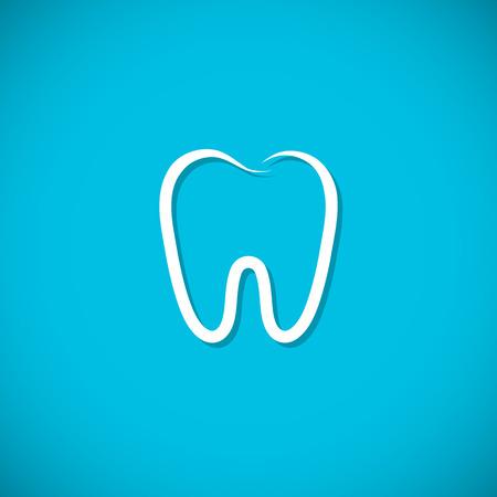 muela: Icono del diente. Ilustración vectorial