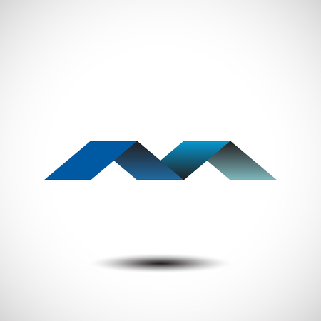 letter m: Vector illustration of abstract icons based on the letter M