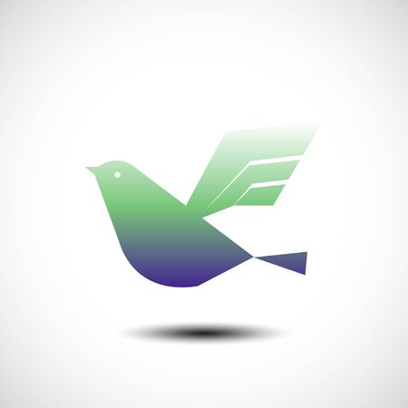 lux: Flying bird abstract icon. Vector illustration