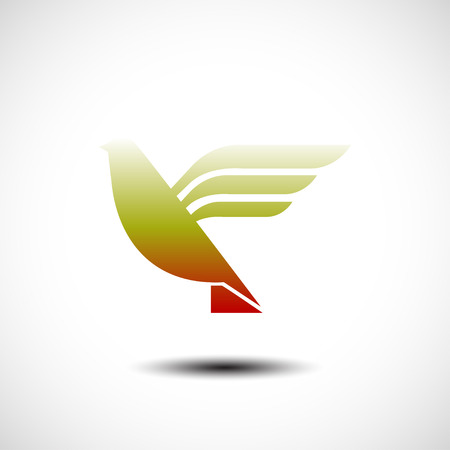 tending: Flying bird abstract icon. Vector illustration