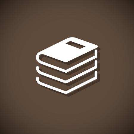 signifier: Book sign. Book symbol. Vector illustration Illustration