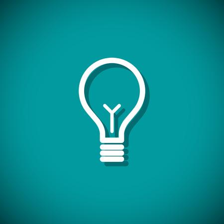 bombillo: Bombilla de la idea. Ilustración vectorial